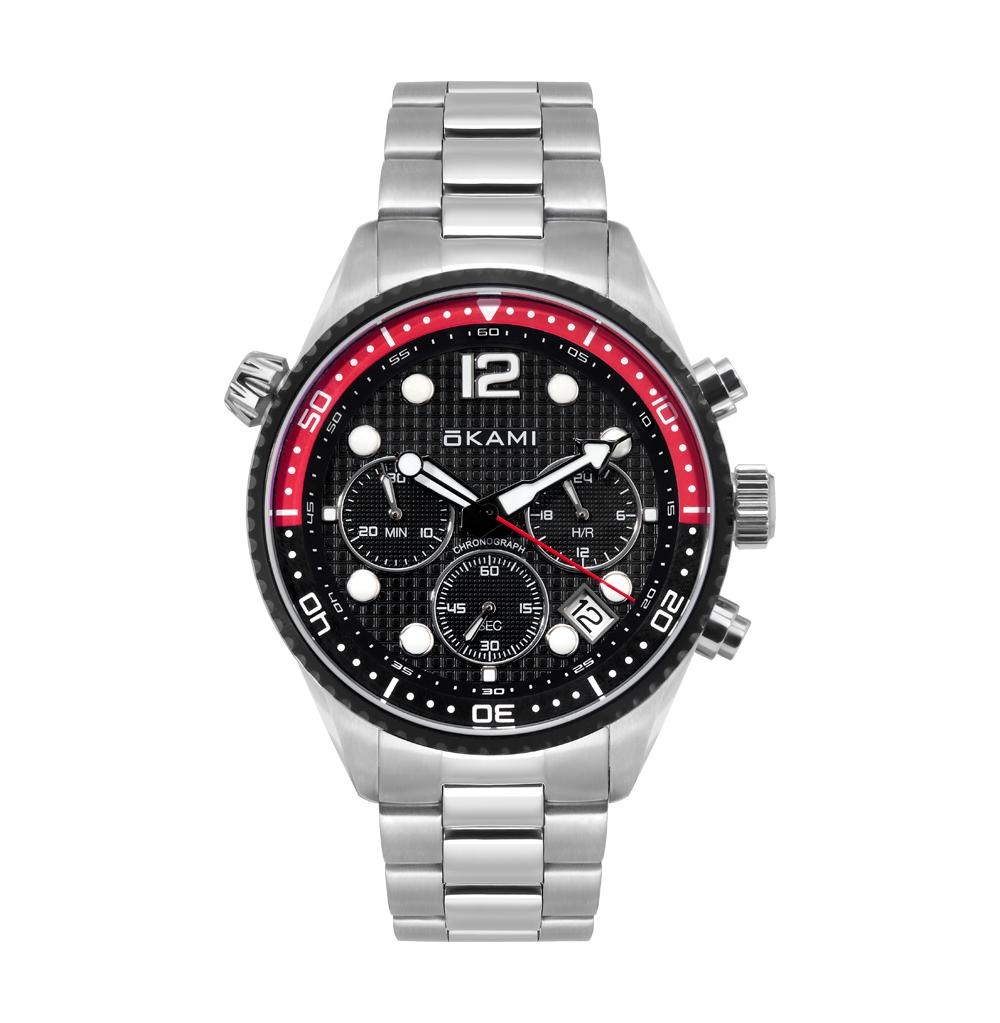 Фото «Мужские часы с хронографом на стальном браслете»