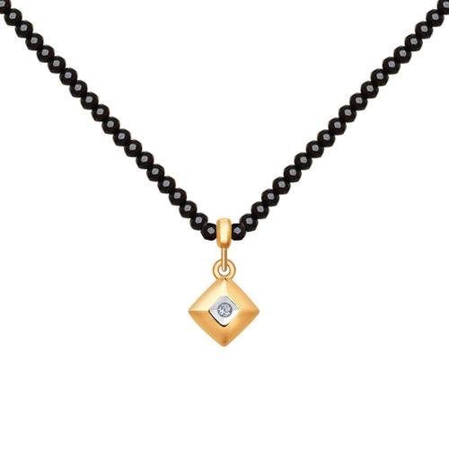 Фото «Золотое колье с бриллиантами SOKOLOV 1070068»
