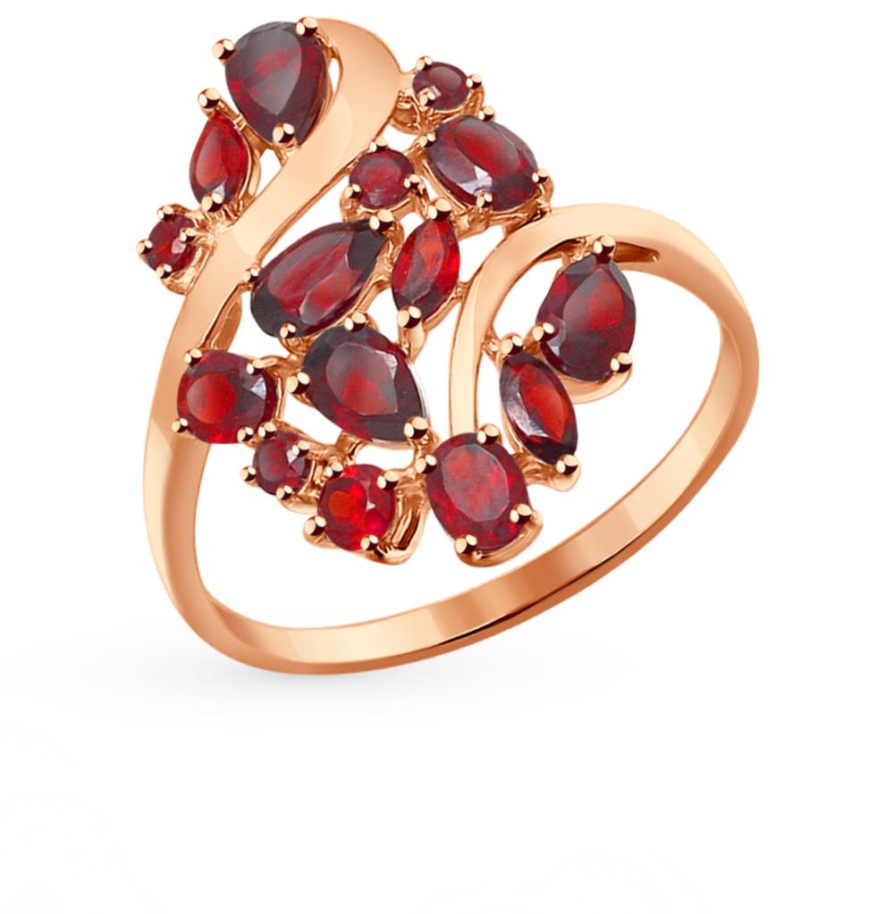 золотое кольцо с гранатом SOKOLOV 714283*