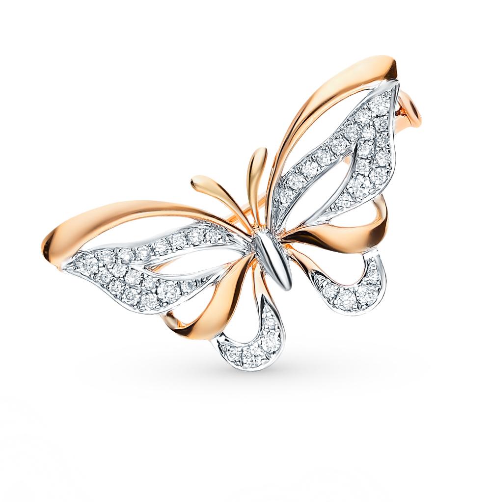 Золотая брошь с бриллиантами в Екатеринбурге