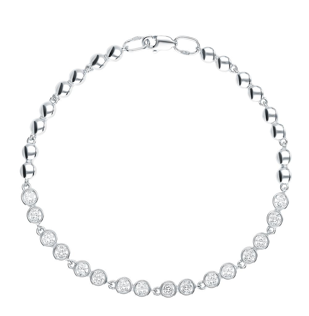 серебряный браслет с фианитами SOKOLOV 94050385
