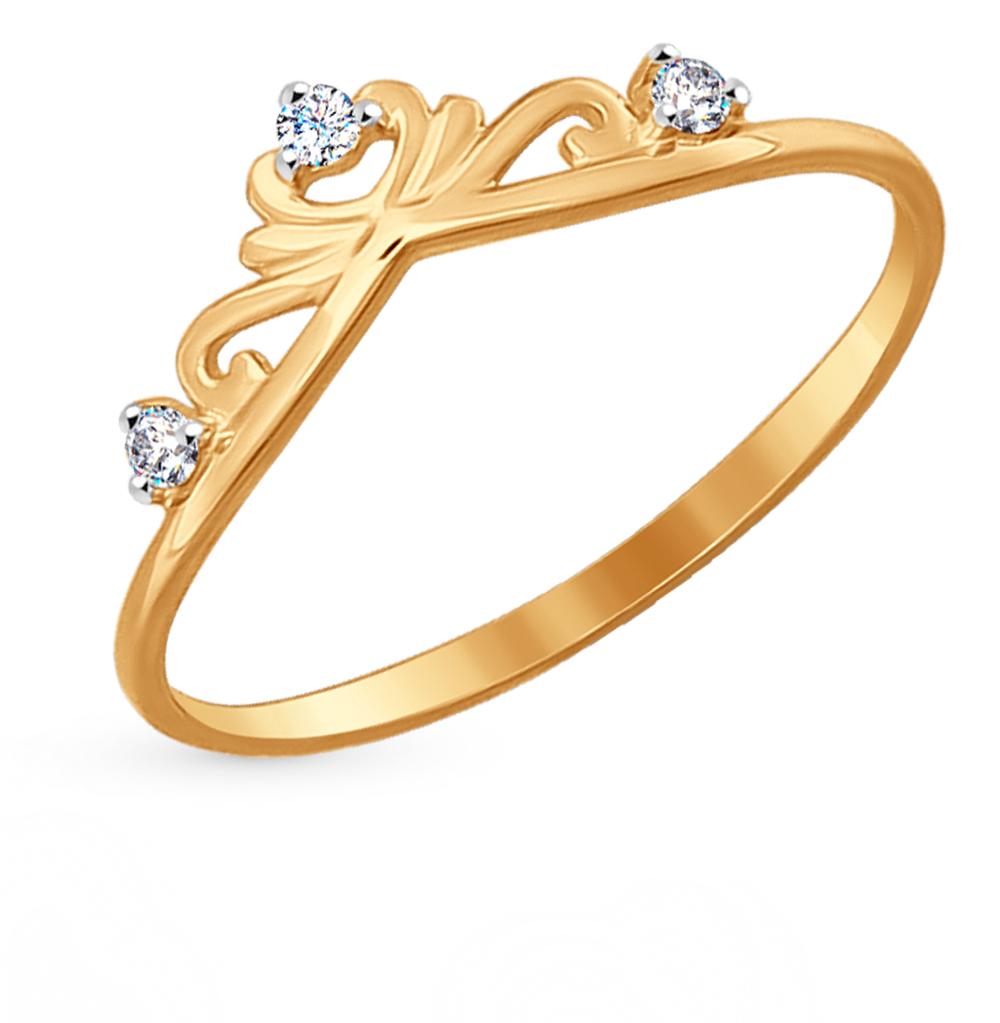 Золотое кольцо с фианитами SOKOLOV 017152* в Санкт-Петербурге