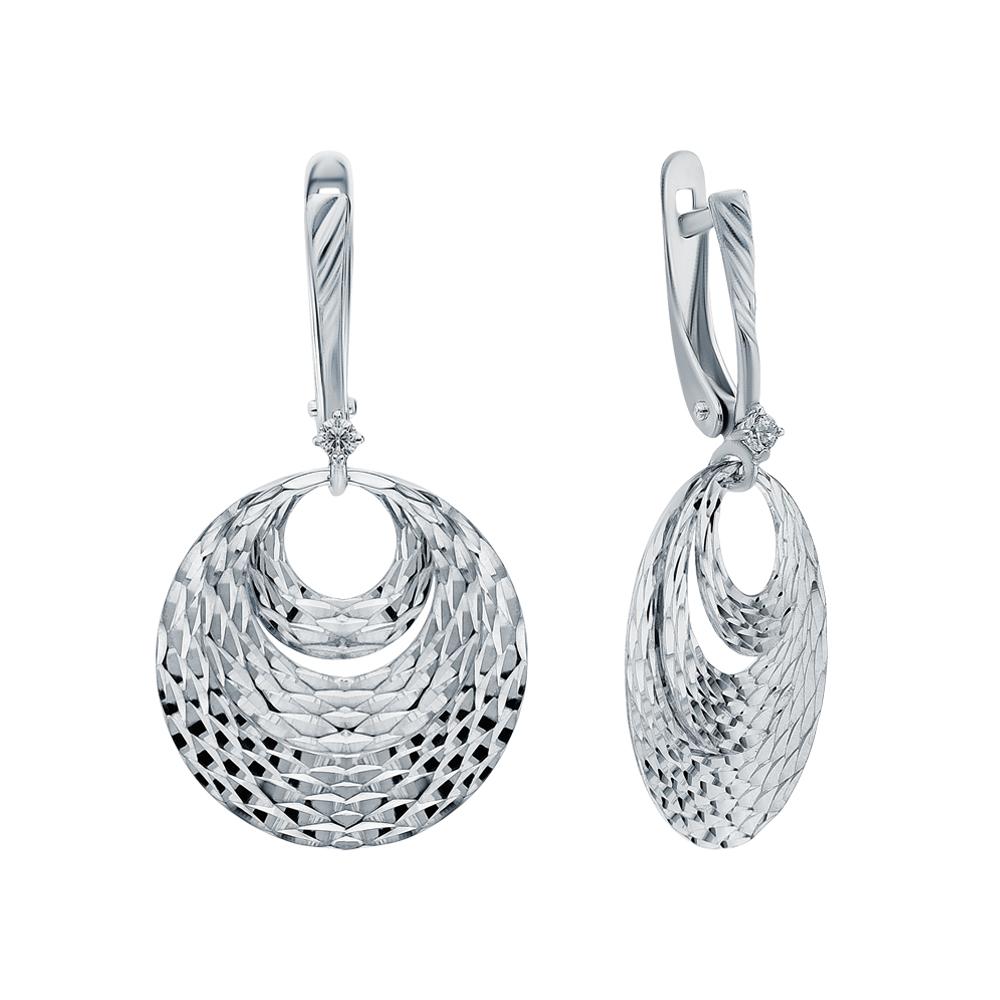 Фото «Серебряные серьги с кубическими циркониями»