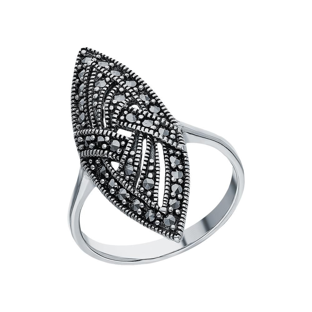 Серебряное кольцо с марказитами swarovski в Санкт-Петербурге