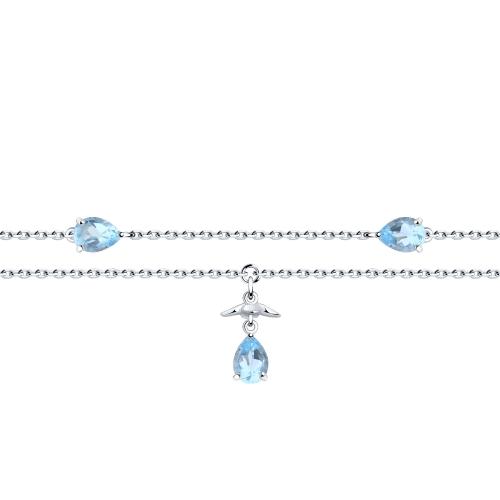 Серебряный браслет с топазами SOKOLOV 92050126 в Екатеринбурге