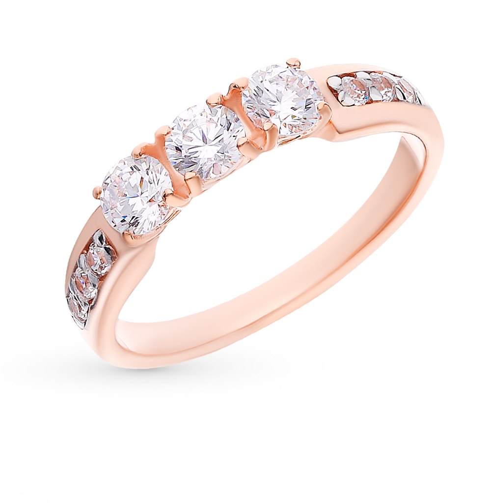 Серебряное кольцо с фианитами SOKOLOV 93010807 в Санкт-Петербурге