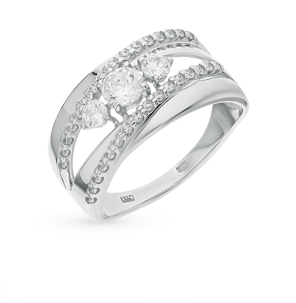 серебряное кольцо с фианитами SOKOLOV 94011975
