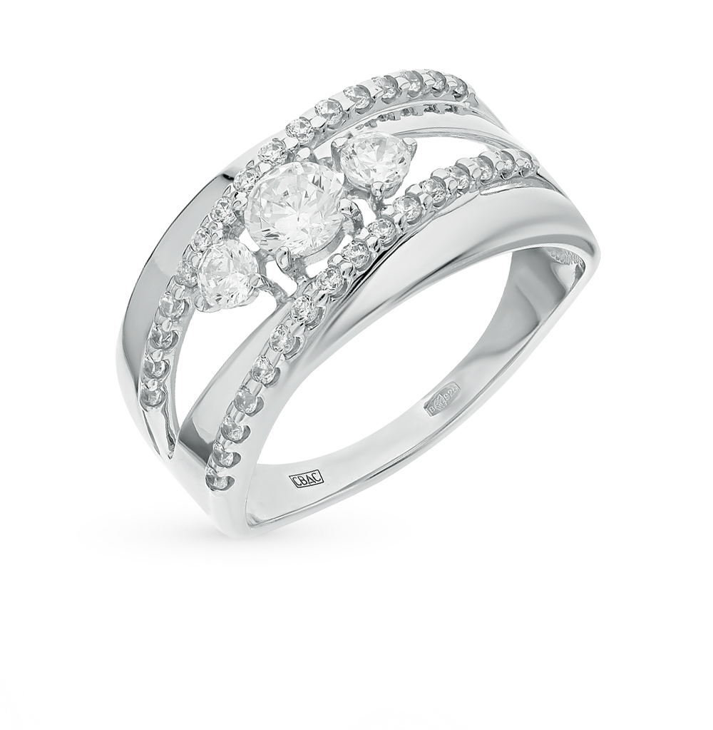 Фото «Серебряное кольцо с фианитами SOKOLOV 94011975»