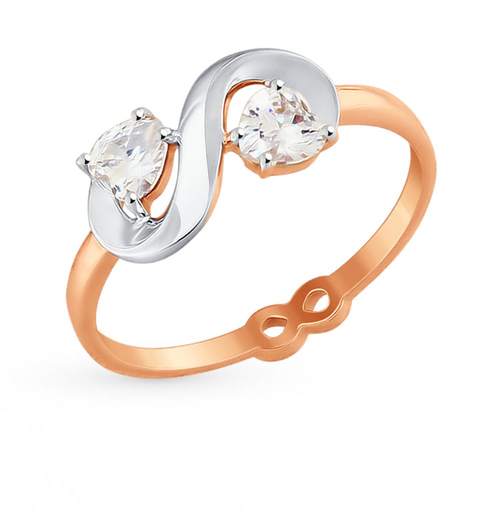 золотое кольцо с фианитами SOKOLOV 017570