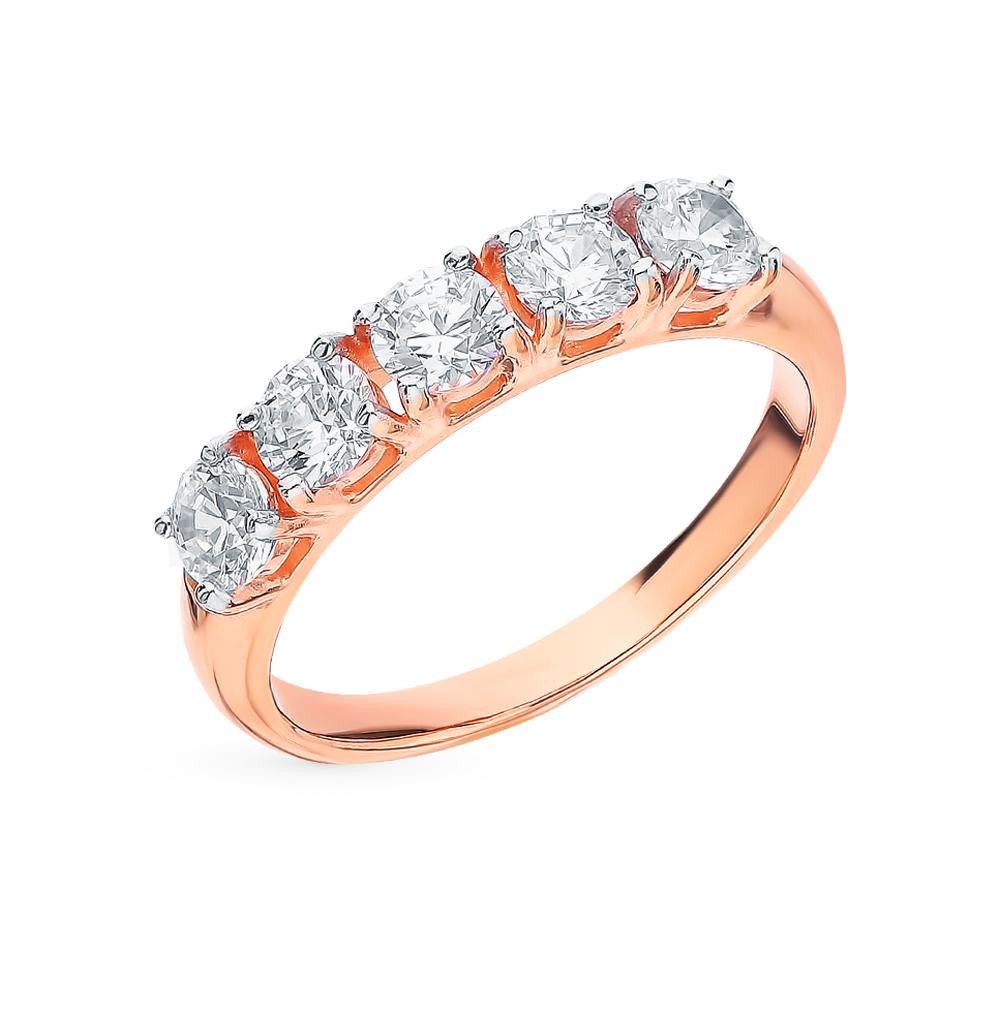 золотое кольцо с фианитами SOKOLOV 81010444*