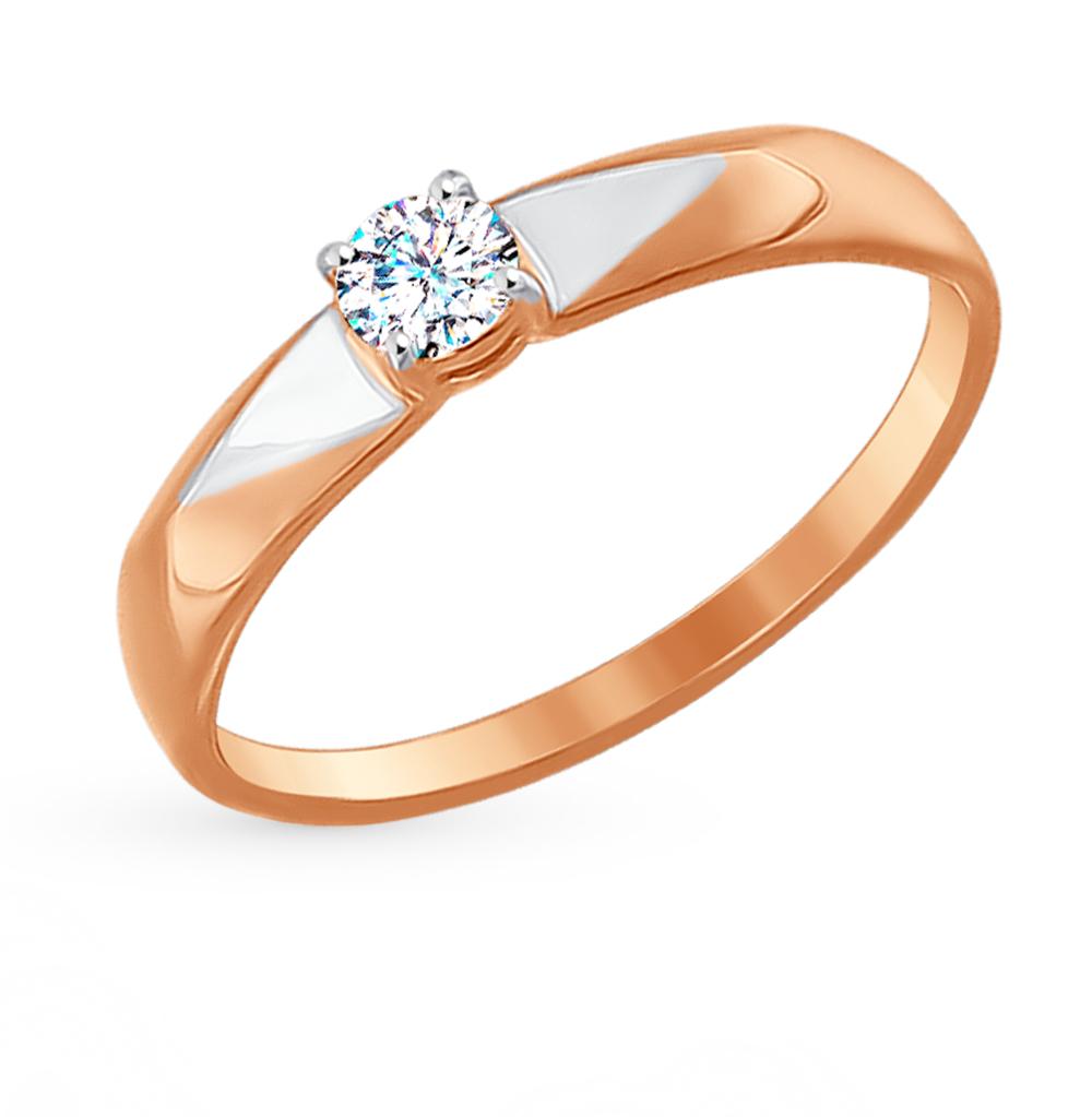 Золотое кольцо с фианитами SOKOLOV 017131* в Санкт-Петербурге