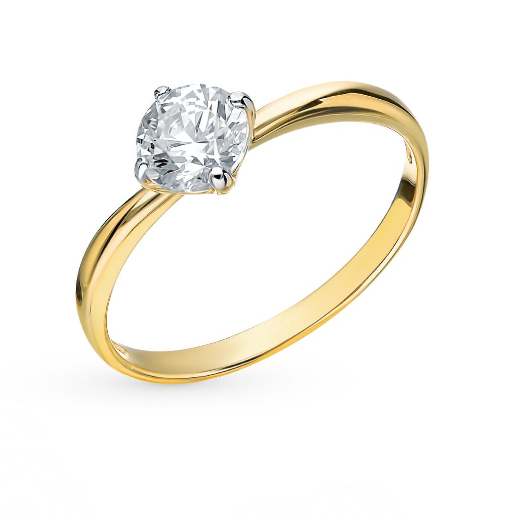 Фото «Золотое кольцо с фианитами SOKOLOV 81010206-2*»