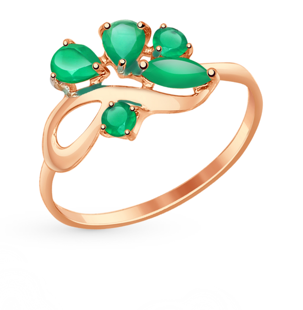 золотое кольцо с агатом SOKOLOV 714611*