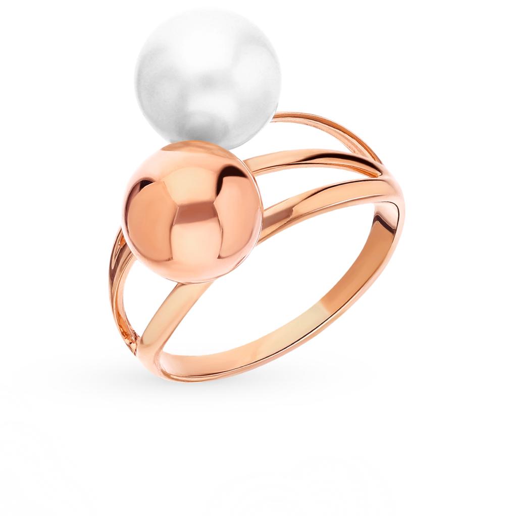 Фото «Золотое кольцо с жемчугом SOKOLOV 791160*»