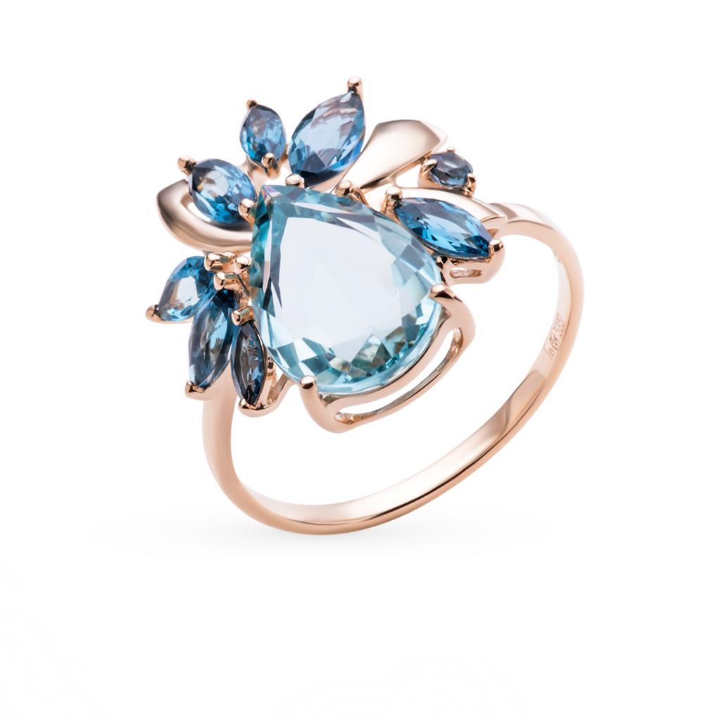 Фото «золотое кольцо с кварцем и топазами»