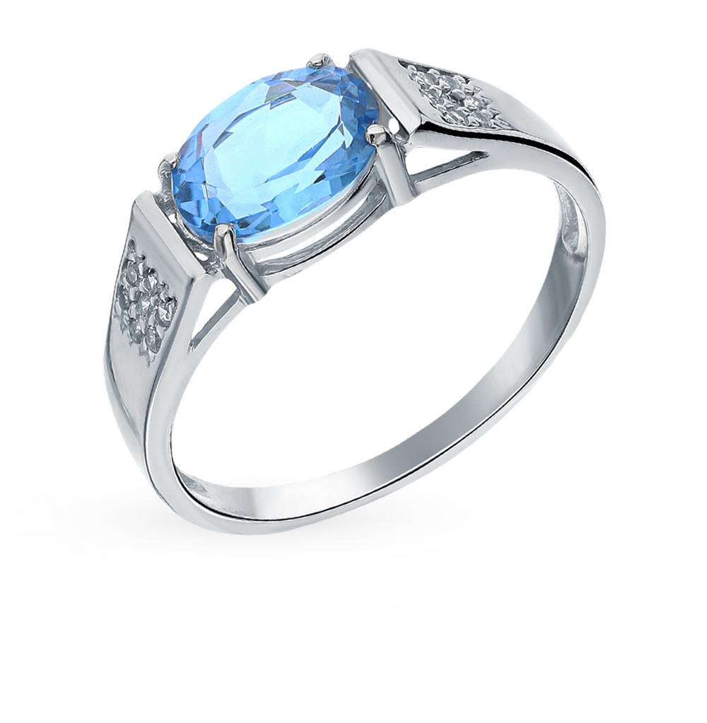 Серебряное кольцо с топазами и фианитами в Санкт-Петербурге