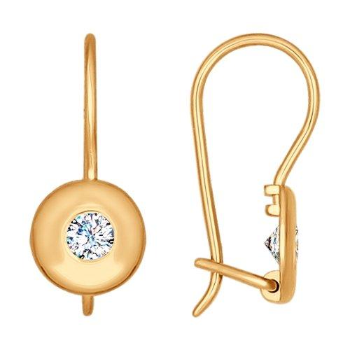 Фото «Золотые серьги с фианитами SOKOLOV 027175*»