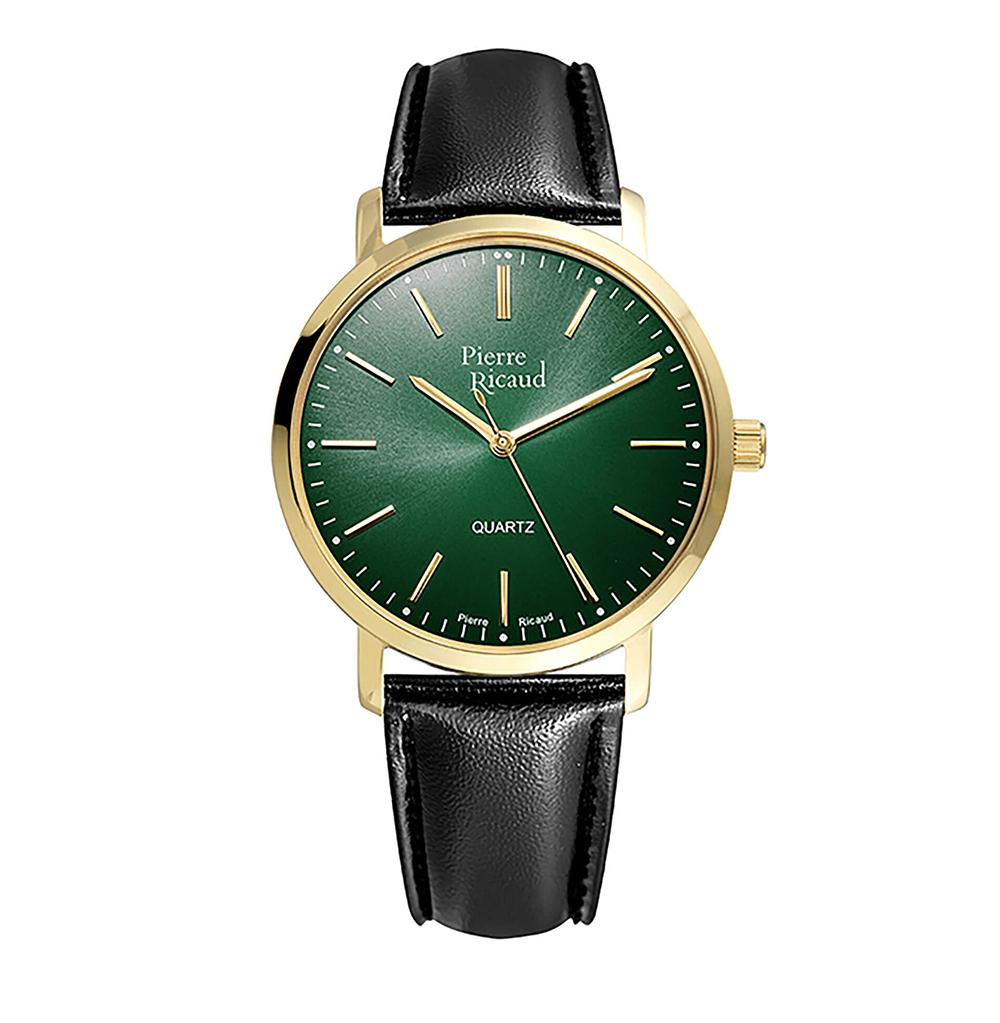 Мужские кварцевые часы P97215.1210Q на кожаном ремешке с минеральным стеклом в Екатеринбурге