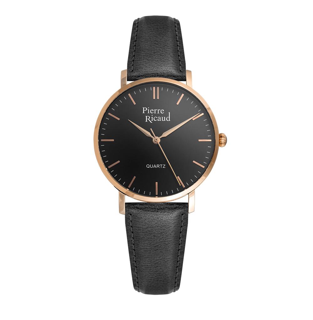 Женские часы P51074.9214Q на кожаном ремешке с минеральным стеклом