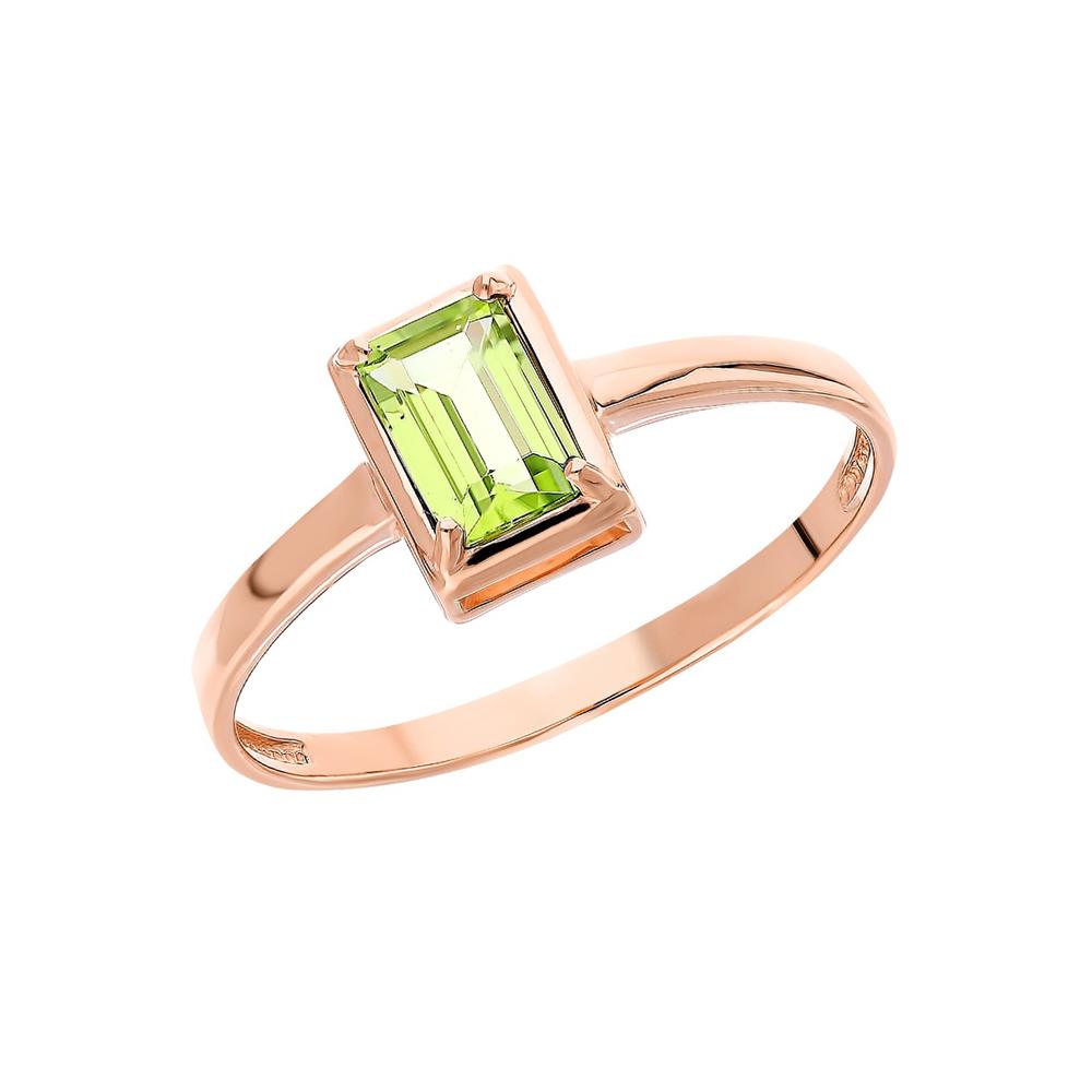 Золотое кольцо с хризолитом в Санкт-Петербурге