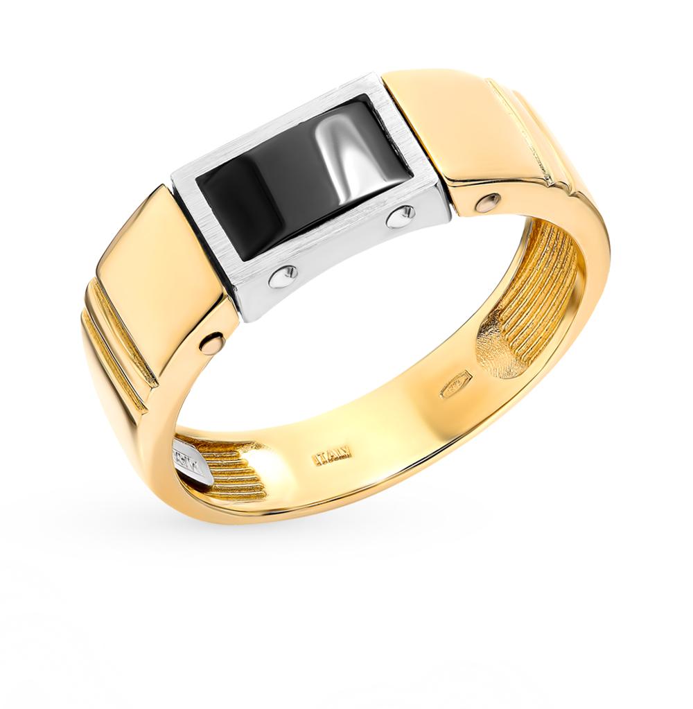 золотое кольцо с керамикой