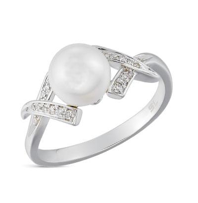 Золотое кольцо с жемчугом и бриллиантами в Санкт-Петербурге
