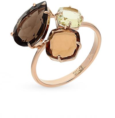 Фото «золотое кольцо с кварцем и раухтопазами (кварцами дымчатый)»