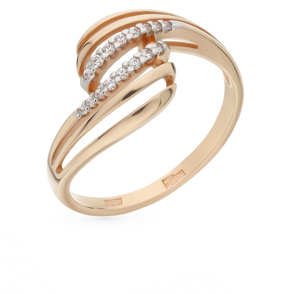 золотое кольцо с фианитами SOKOLOV 015967*