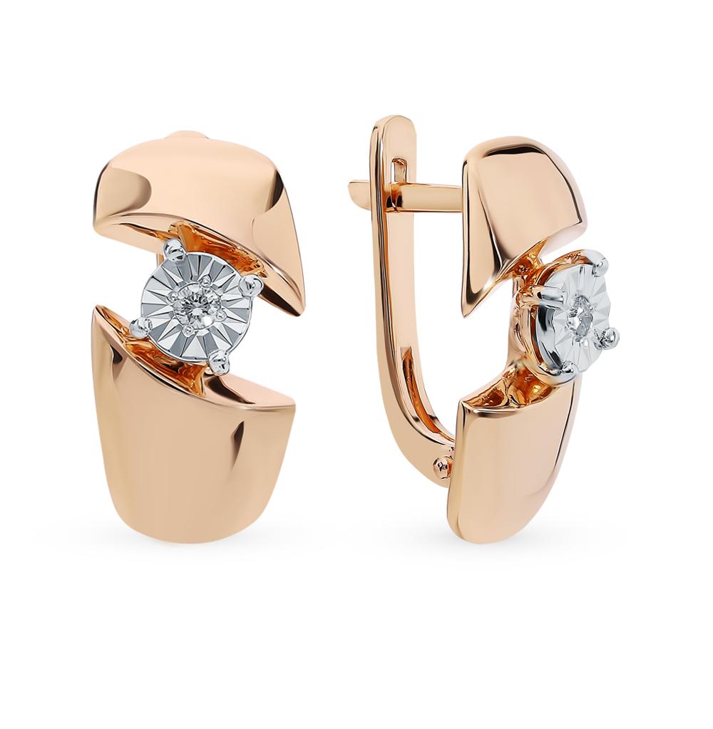 Фото «Золотые серьги с бриллиантами SOKOLOV 1020922»