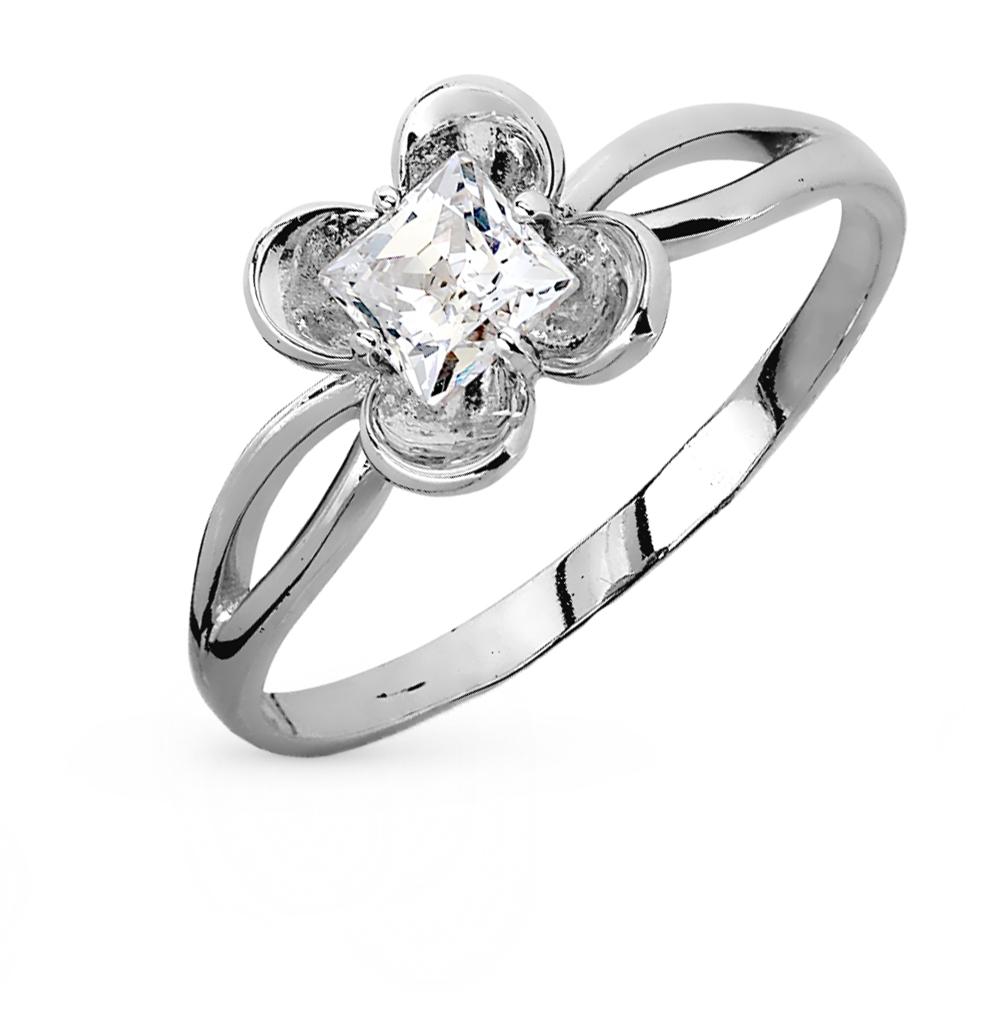 Золотое кольцо с кристаллами swarovski в Екатеринбурге