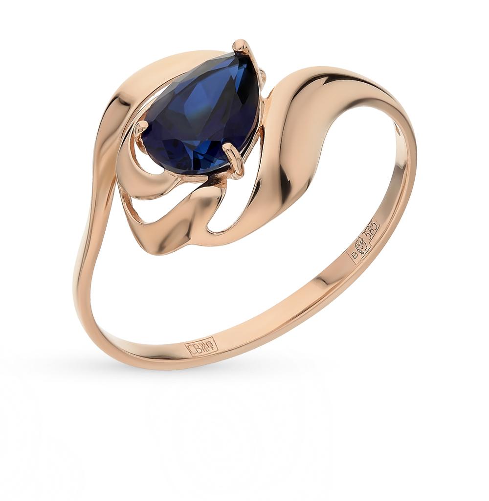 золотое кольцо с корундом SOKOLOV 714670*