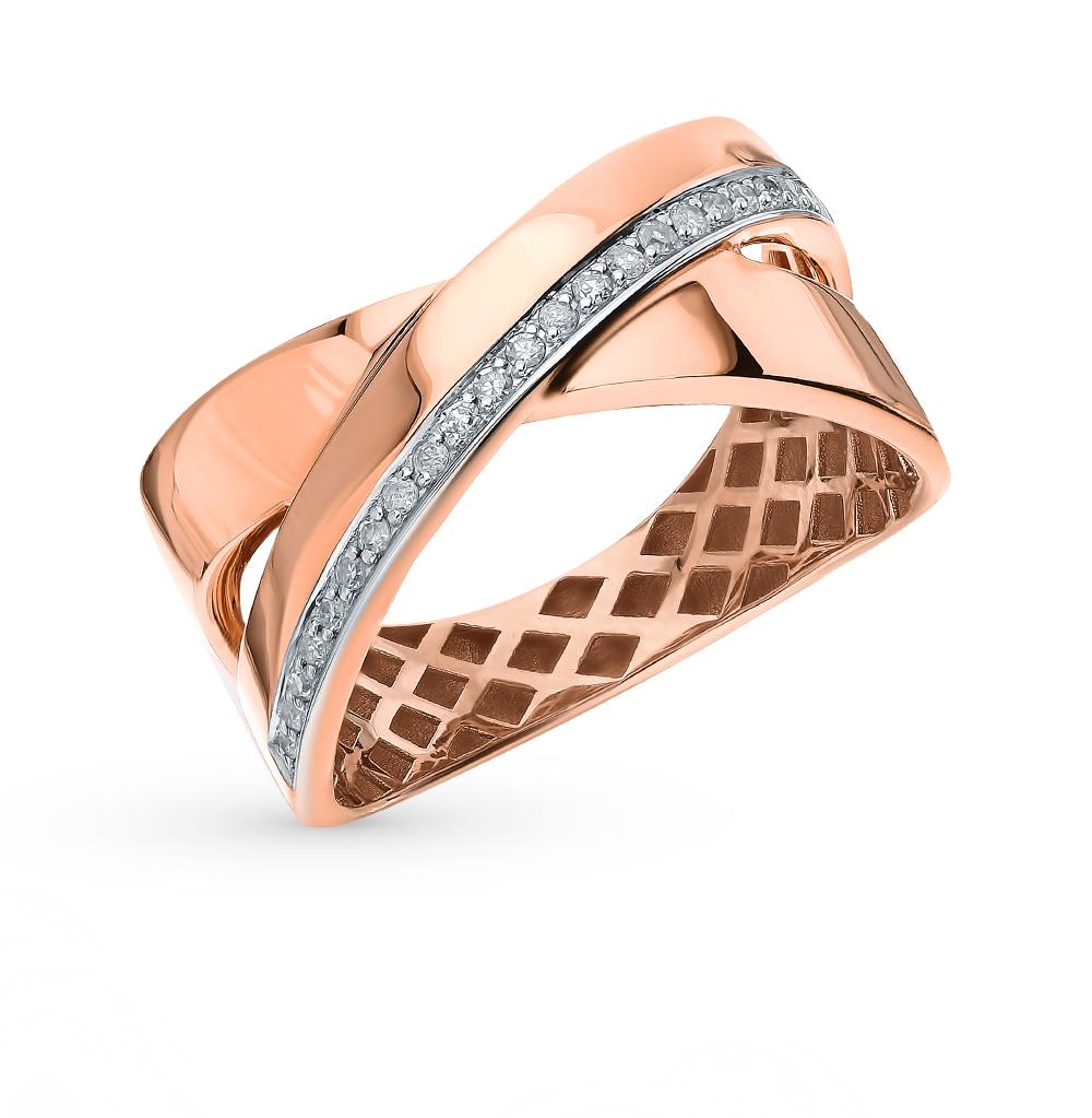 Фото «Золотое кольцо с бриллиантами SOKOLOV 1011936»