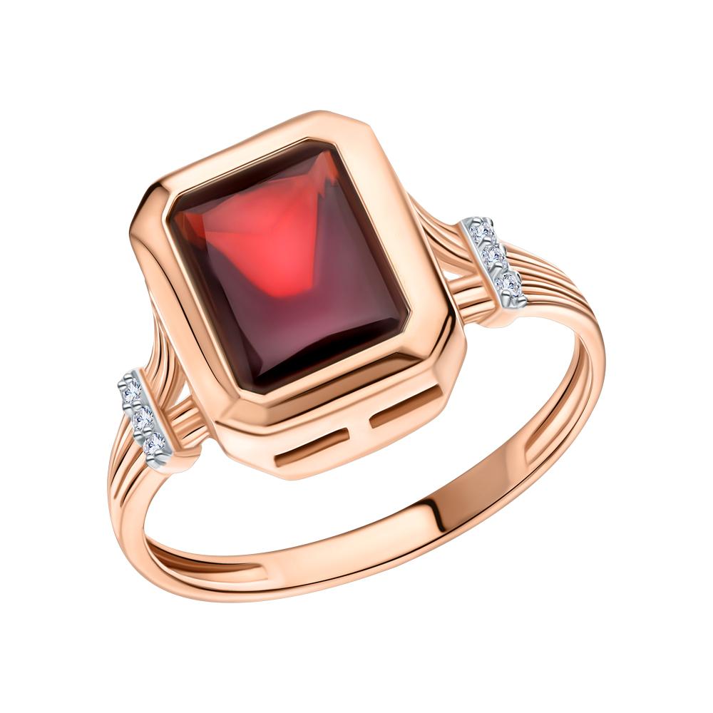 Фото «Золотое кольцо с топазами и гранатом»