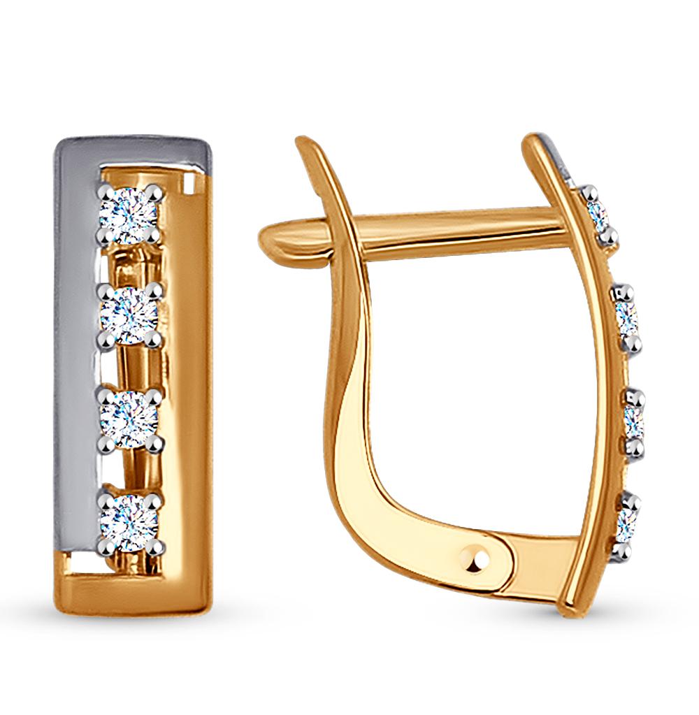 Фото «золото серьги с фианитами»