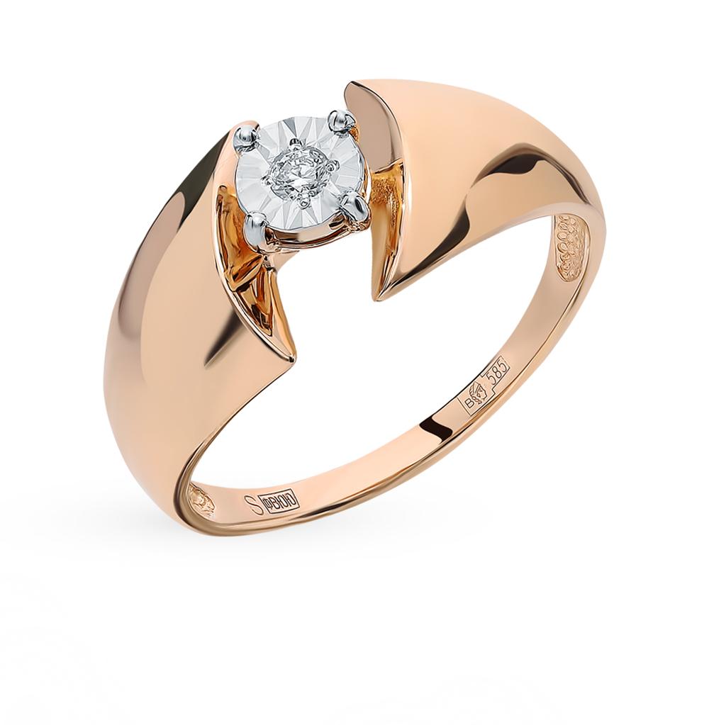 Золотое кольцо с бриллиантом SOKOLOV 1011411