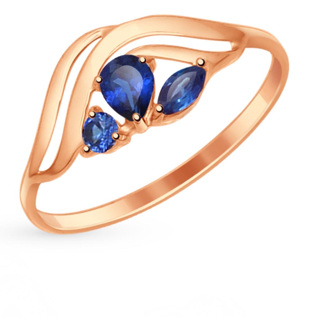 Золотое кольцо с сапфирами и корундом SOKOLOV 714616* в Екатеринбурге