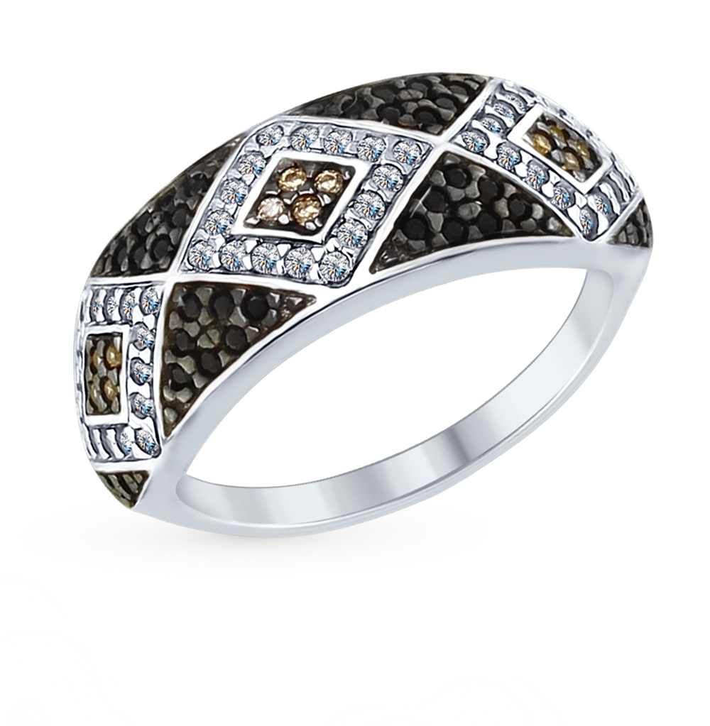 Фото «Серебряное кольцо с фианитами SOKOLOV 94012573»