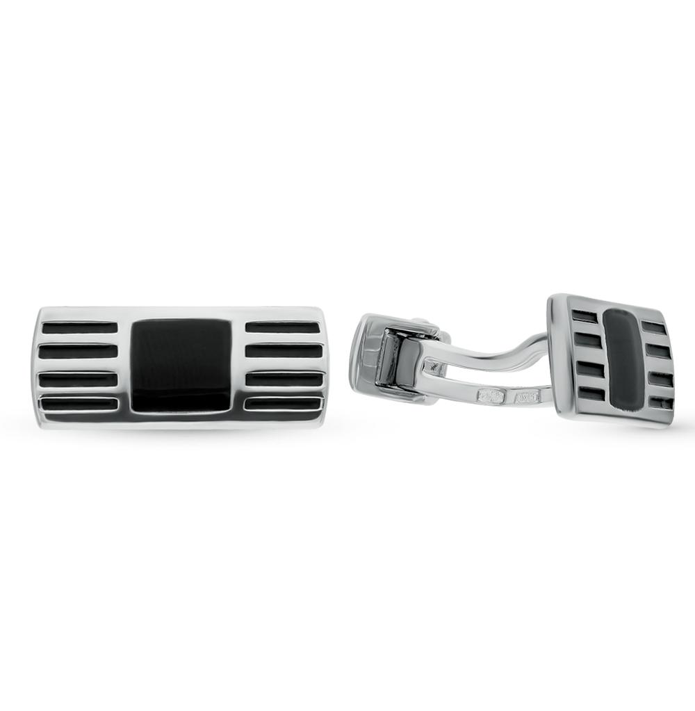 серебряные запонки с эмалью SOKOLOV 94160050