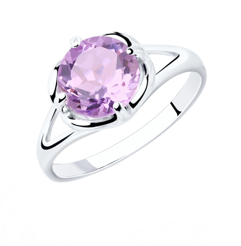 Фото «Серебряное кольцо с аметистом SOKOLOV 92011788»