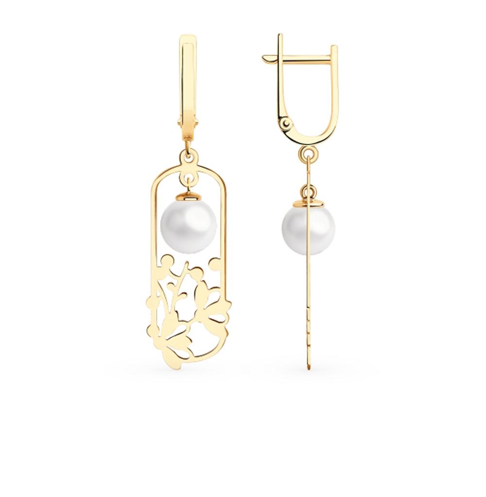 Фото «Золотые серьги с жемчугом SOKOLOV 792214*»