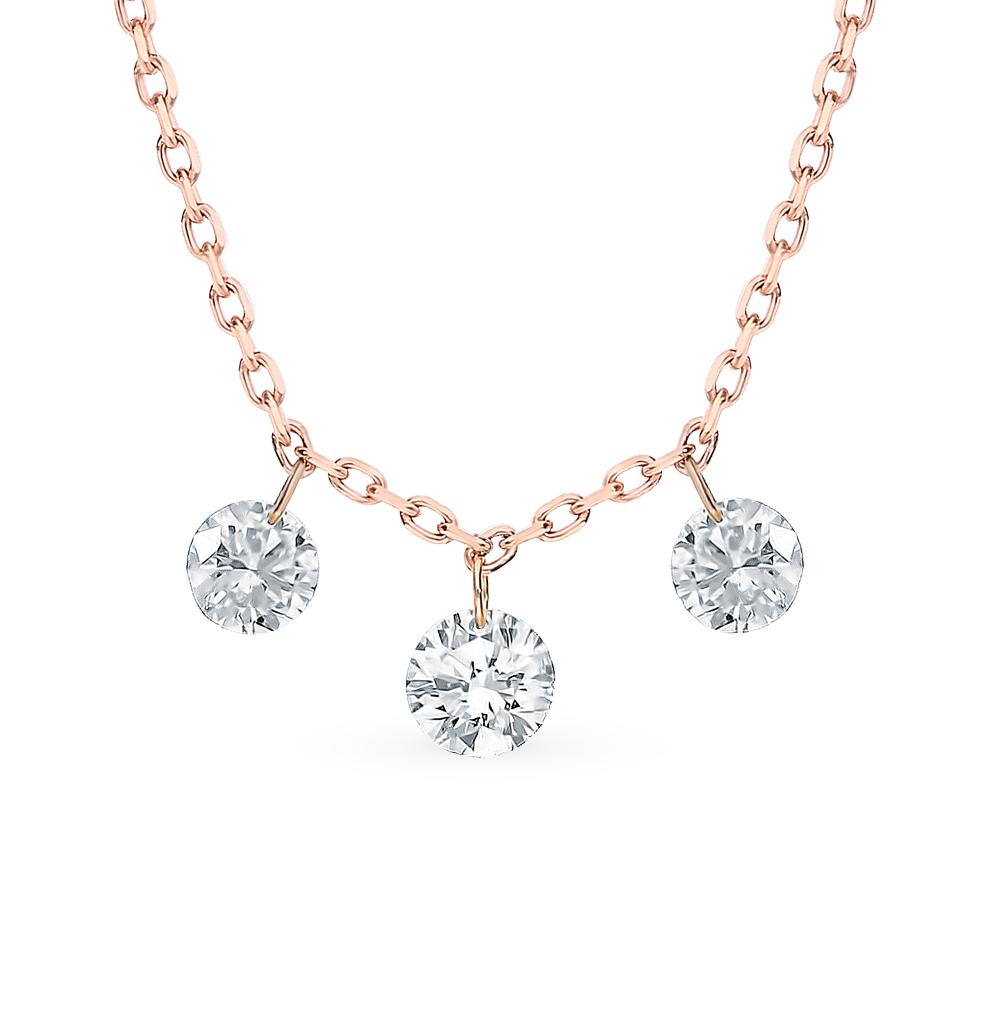 Золотое шейное украшение с бриллиантами в Екатеринбурге