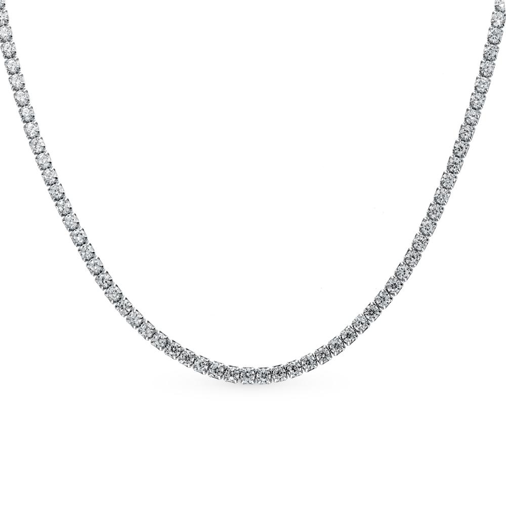 Фото «Серебряное шейное украшение с фианитами»