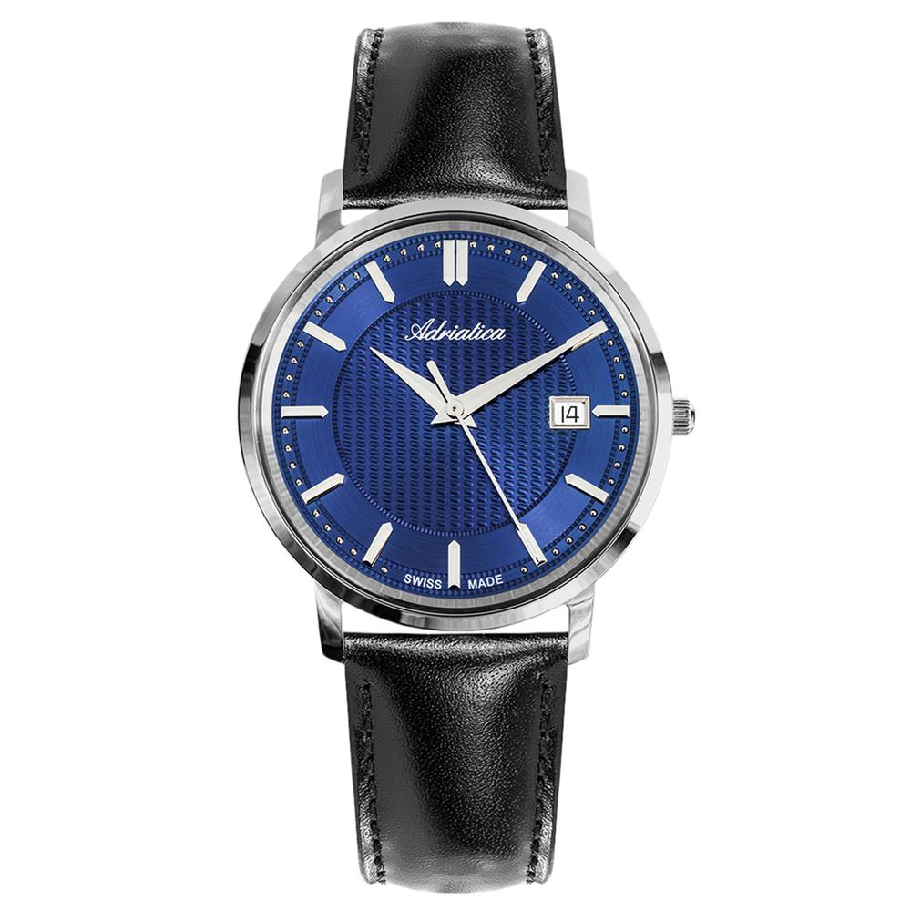 Мужские часы A1277.5215Q на кожаном ремешке с сапфировым стеклом