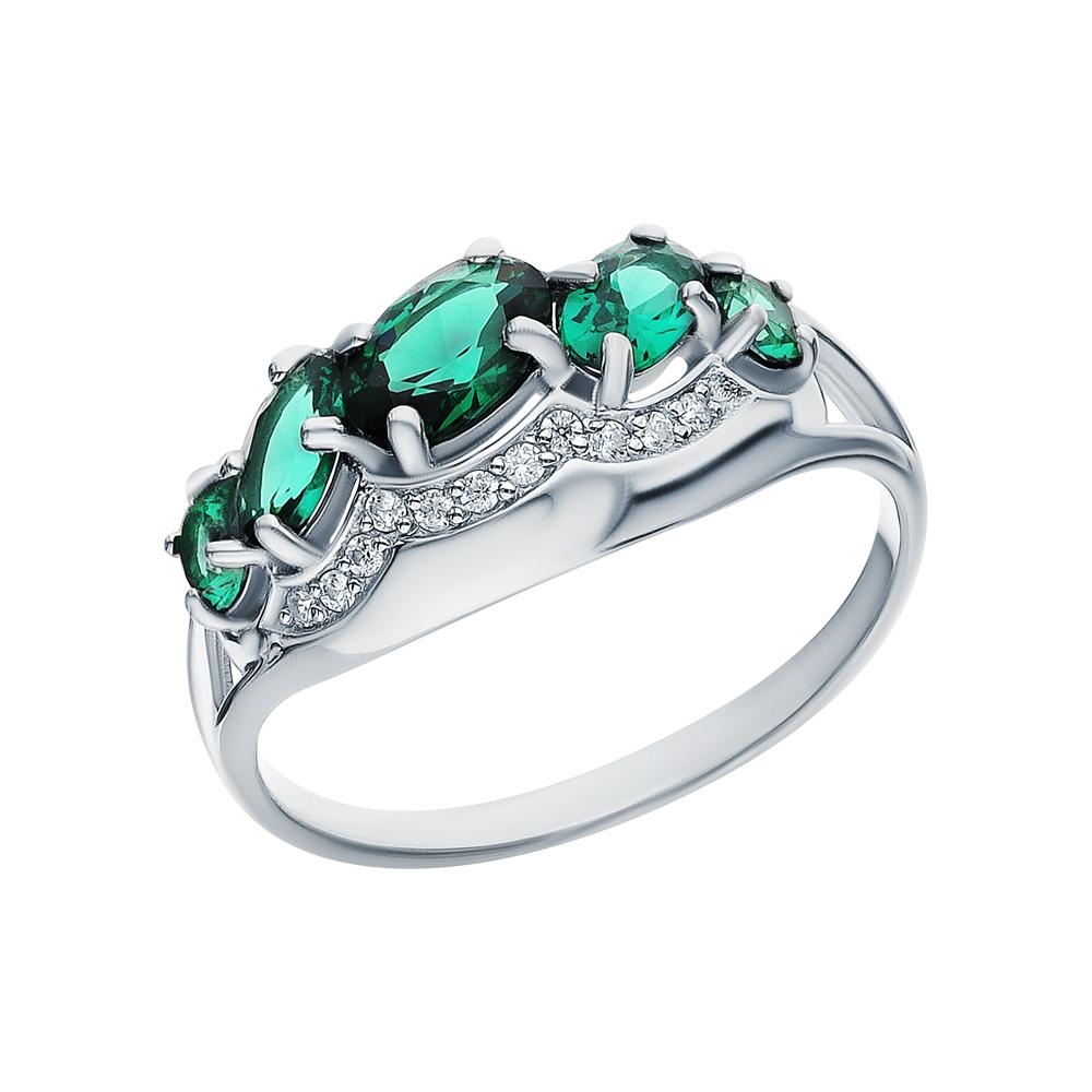 Серебряное кольцо с нанокристаллами и фианитами в Санкт-Петербурге