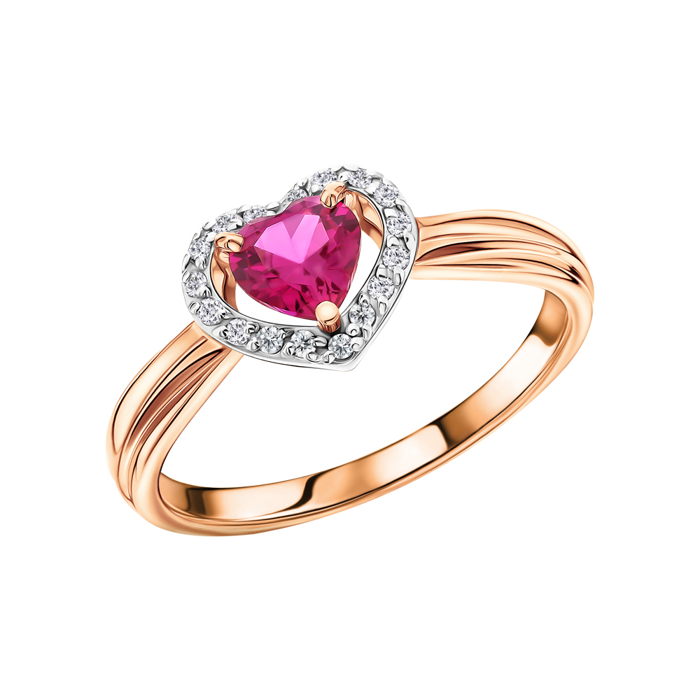 Золотое кольцо с рубинами, рубинами и бриллиантами в Санкт-Петербурге