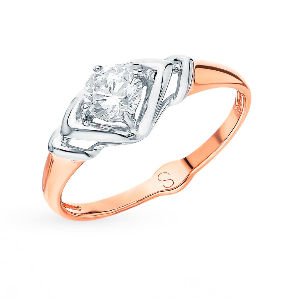 Фото «Золотое кольцо с фианитами SOKOLOV 017911*»