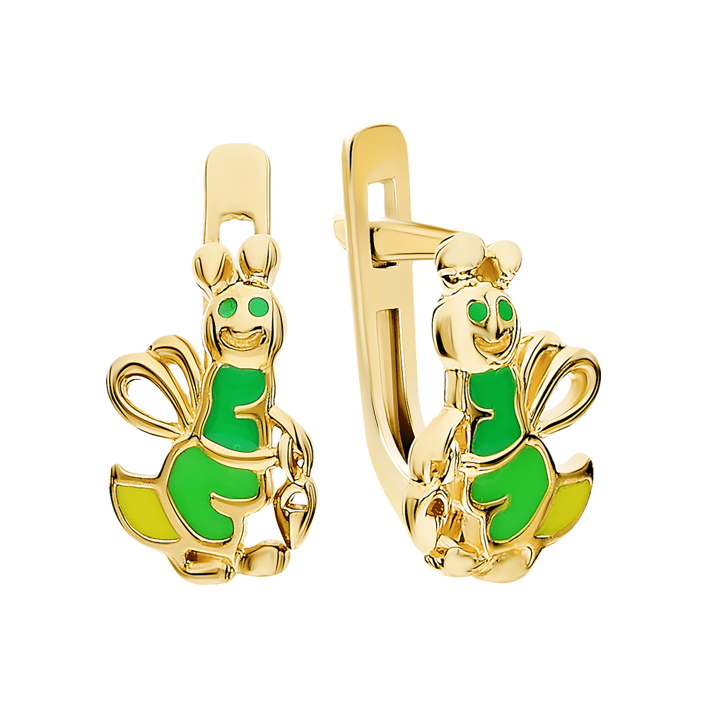 Фото «Золотые серьги с эмалью»
