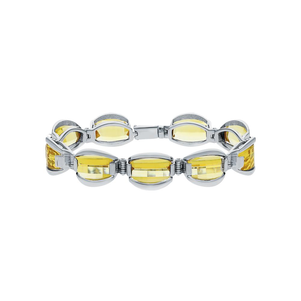 Фото «Серебряный браслет с цитринами»