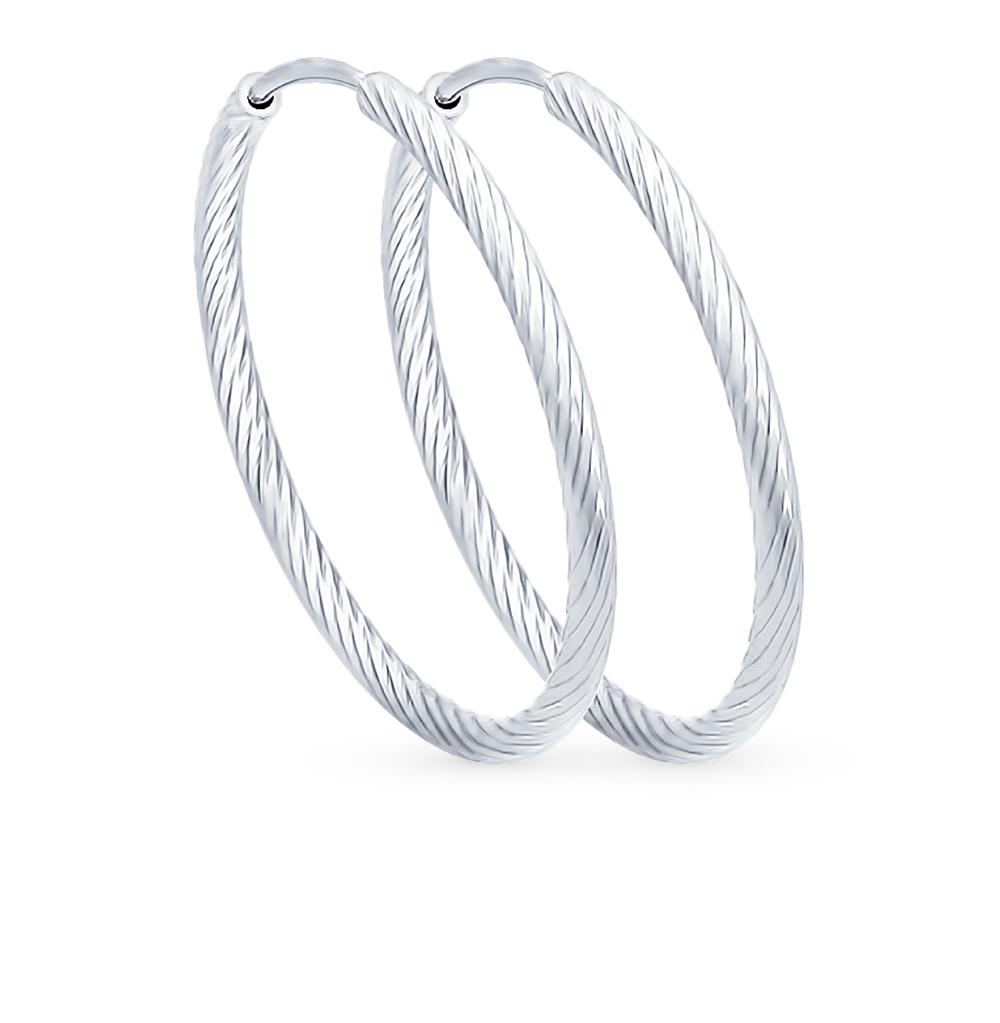 серебряные серьги SOKOLOV 94140002