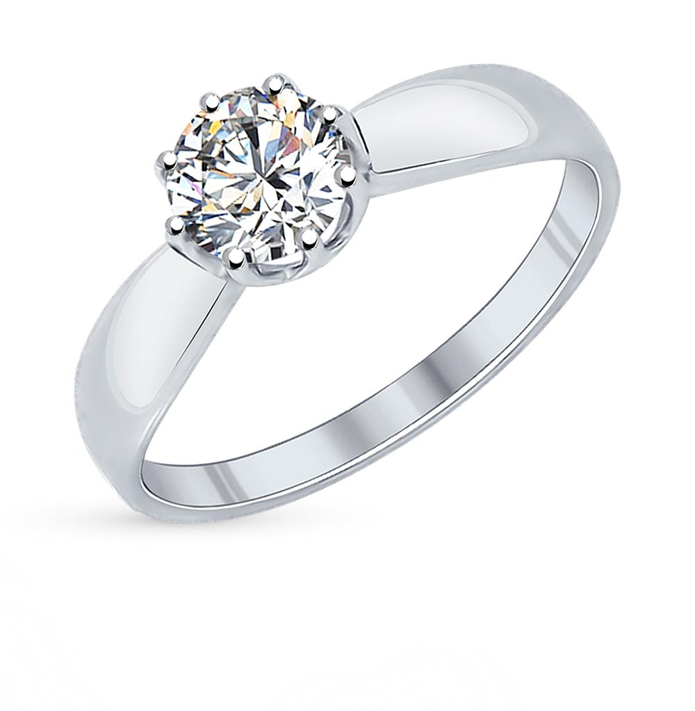 серебряное кольцо с фианитами SOKOLOV 89010029